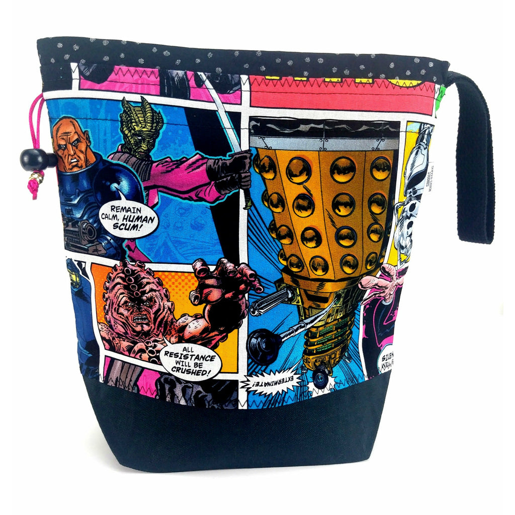 Doctor Who Villains Comic - 1 </br> New* Medium Project Bag:Medium Project Bag,Slipped Stitch Studios:Slipped Stitch Studios