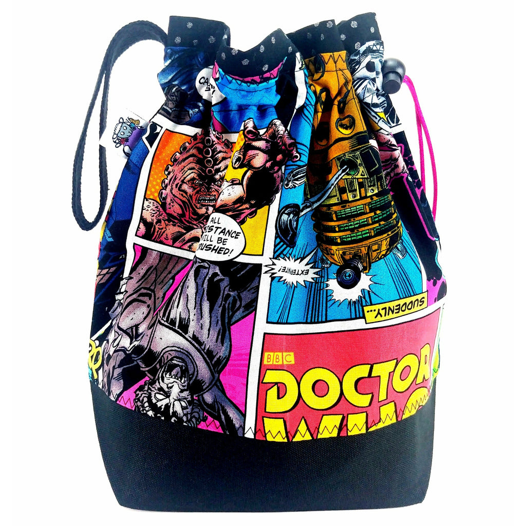 Doctor Who Villains Comic - 2 </br> New* Medium Project Bag:Medium Project Bag,Slipped Stitch Studios:Slipped Stitch Studios
