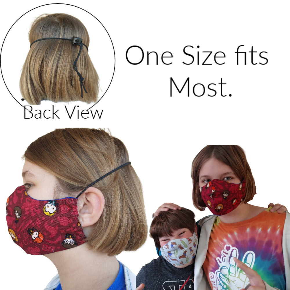 Simplicity Sewer Snark - Face Mask with Pocket (2 order Max) Ready to Ship:MASK,Slipped Stitch Studios:Slipped Stitch Studios