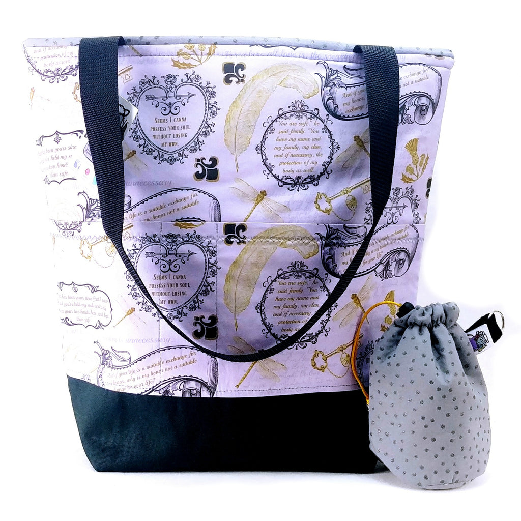 Jamie & Claire </br> XL Project Bag </br> Studio Tote & Tot </br> Pre Order:XL Project Bag,Slipped Stitch Studios:Slipped Stitch Studios