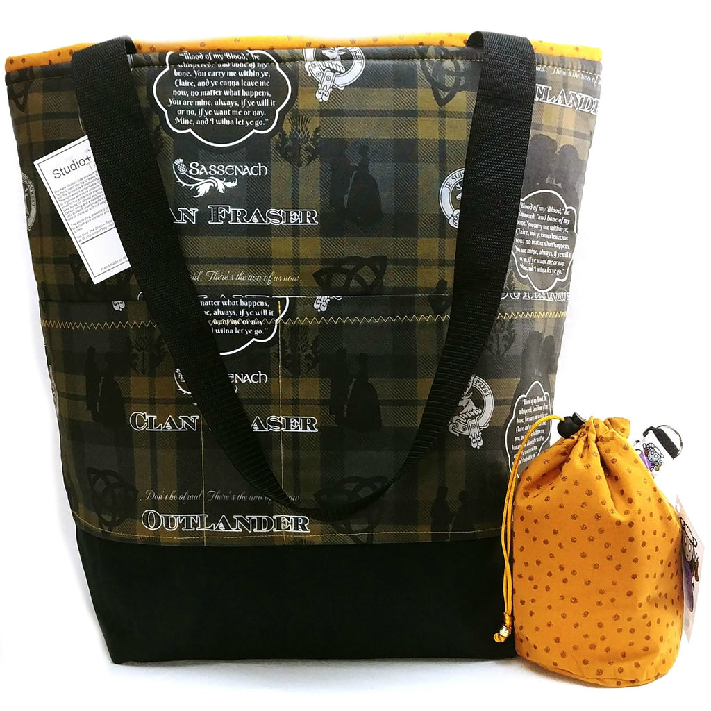 Clan Frasier </br> XL Project Bag </br> Studio Tote & Tot </br> Pre Order:XL Project Bag,Slipped Stitch Studios:Slipped Stitch Studios