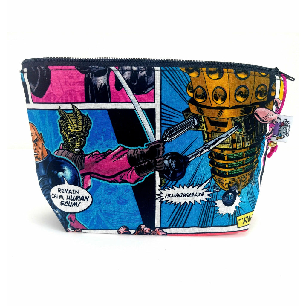 Doctor Who Villains Comic - 1 </br> Zipper Notion Pouch:Zipper Notion Pouch,Slipped Stitch Studios:Slipped Stitch Studios
