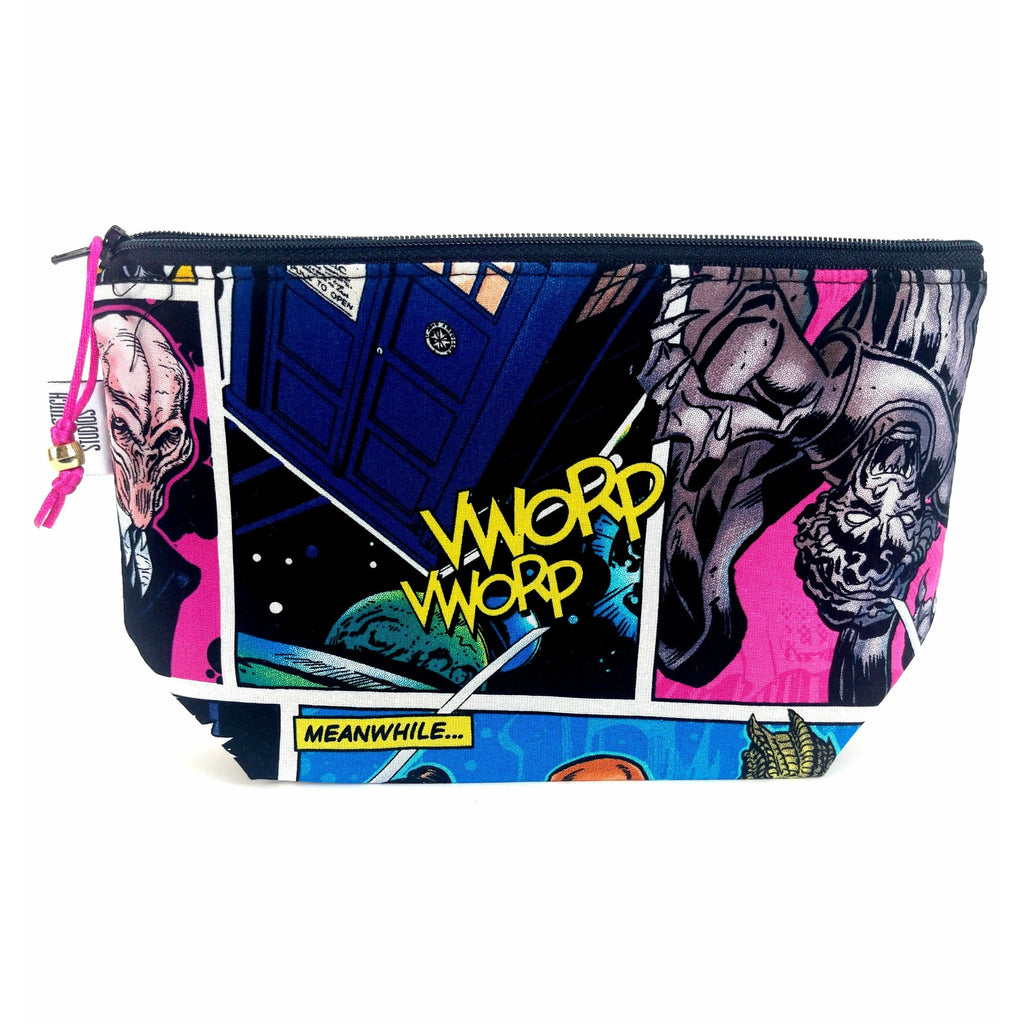 Doctor Who Villains Comic - 2 </br> Zipper Notion Pouch:Zipper Notion Pouch,Slipped Stitch Studios:Slipped Stitch Studios