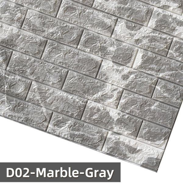 3D WALL STICKERS BRICK LOOK (70 * 75 CM)