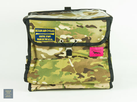 Woodland Camo Black Trim Demi Porteur Bag