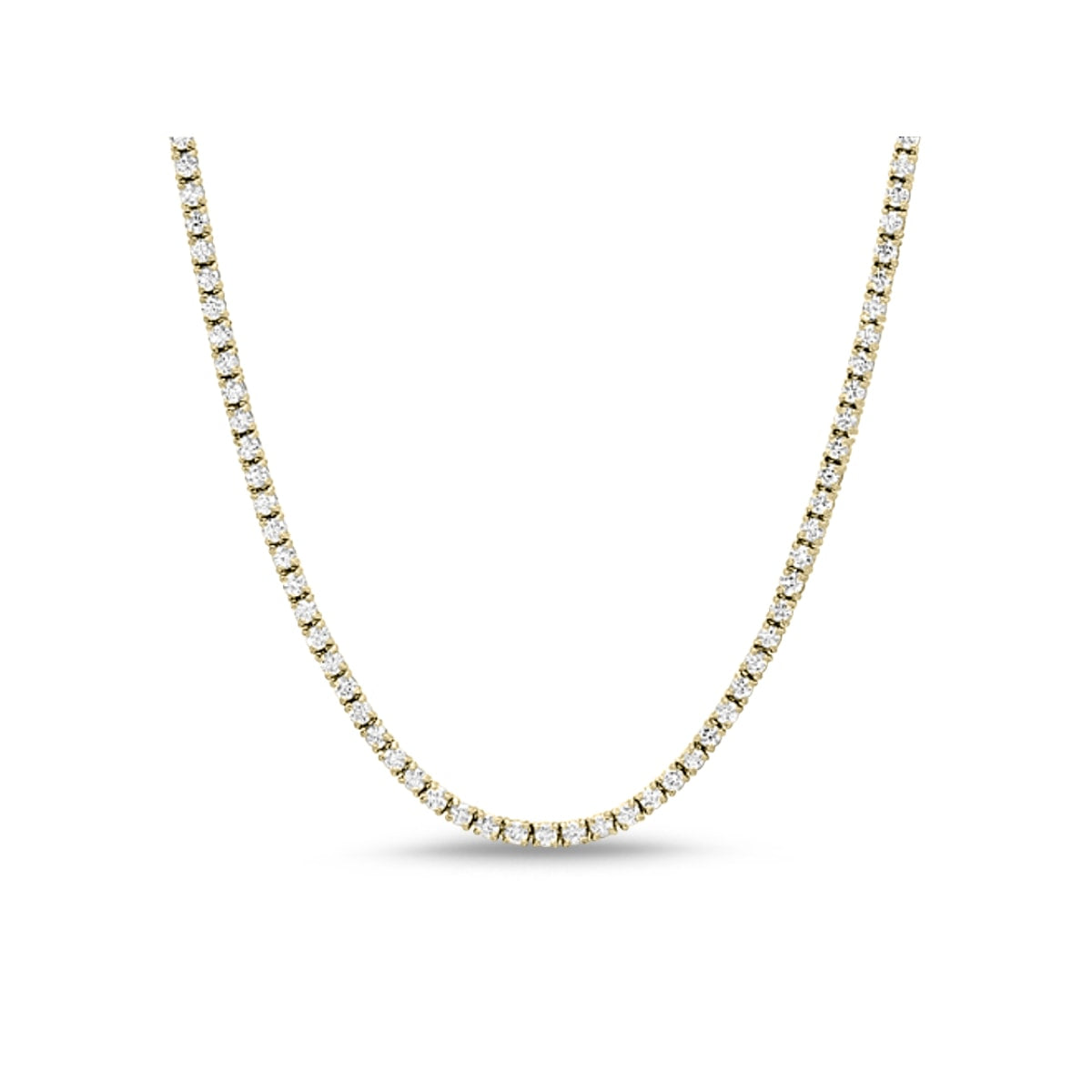 Monette 4 Prong Diamond Necklace in 18k Gold Vermeil