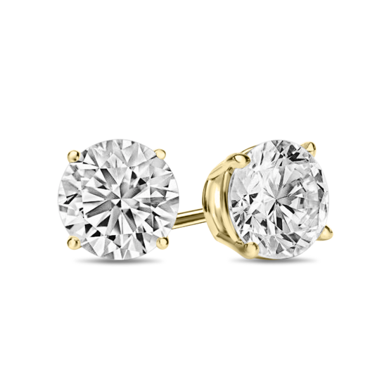 Giovanni 4 Prong Diamond Earrings in 18k Gold Vermeil
