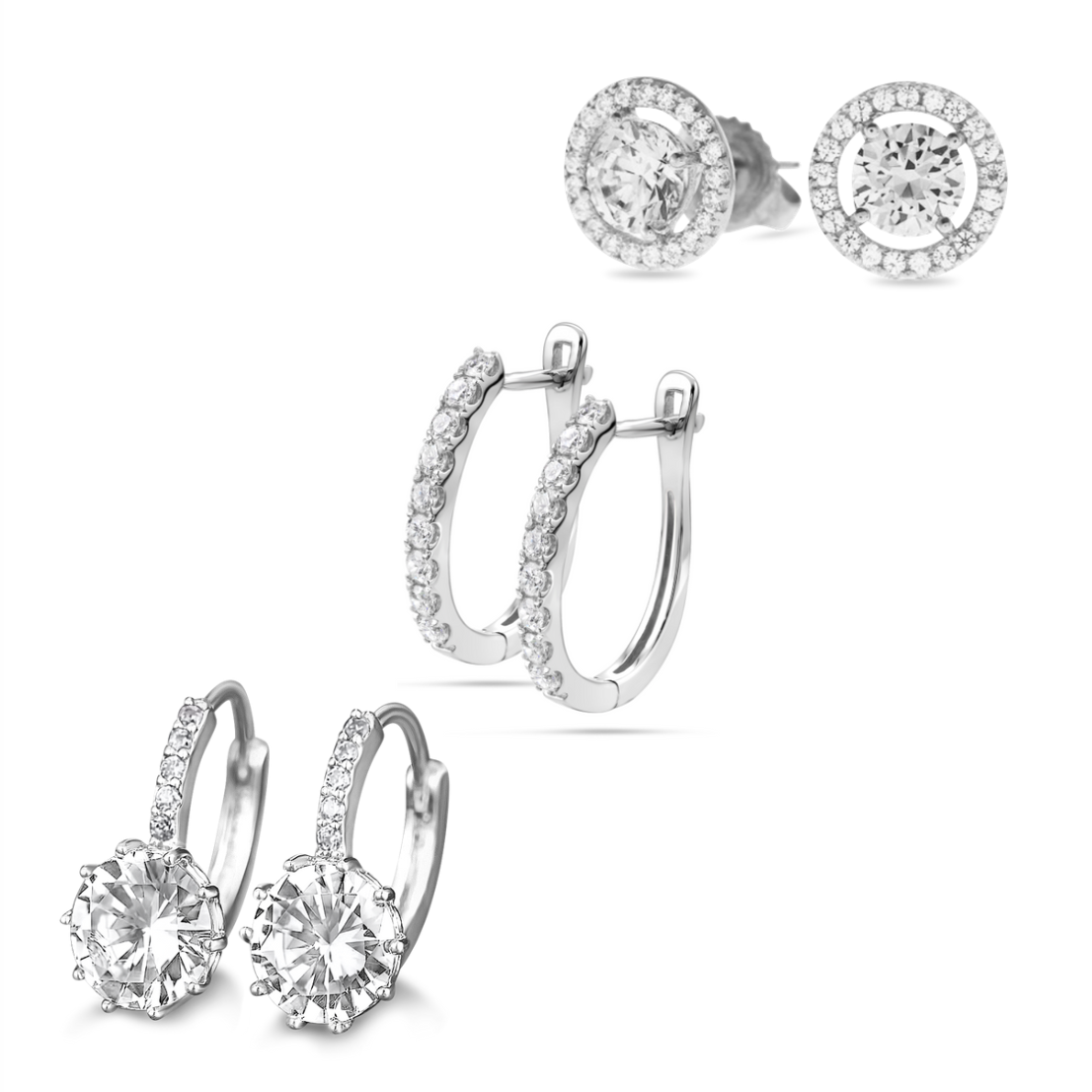 [PROMO SET] Sarlotte Quinn Celeste Earrings Diamond Set