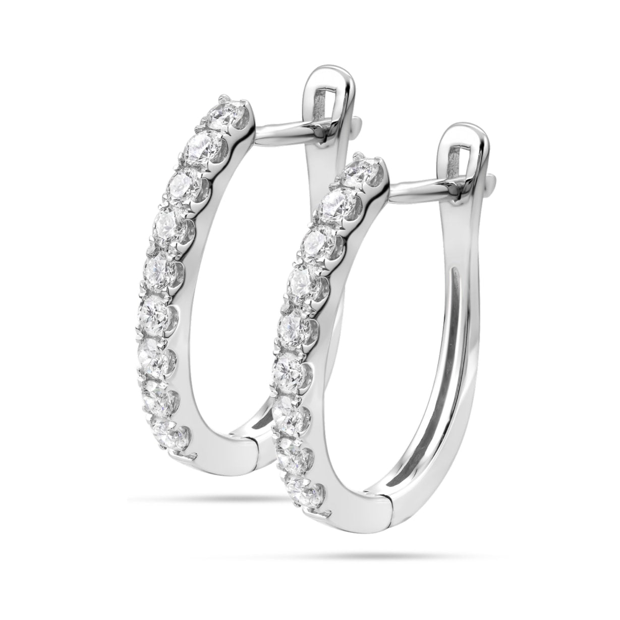 Sarlotte Tennis Diamond Earrings in 18k White Gold Vermeil