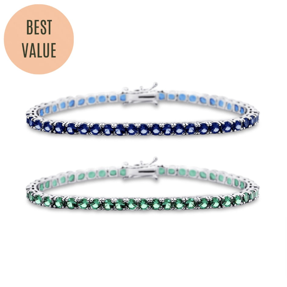[PROMO BUNDLE] Aurelie Gemstone Bracelet Diamond Set