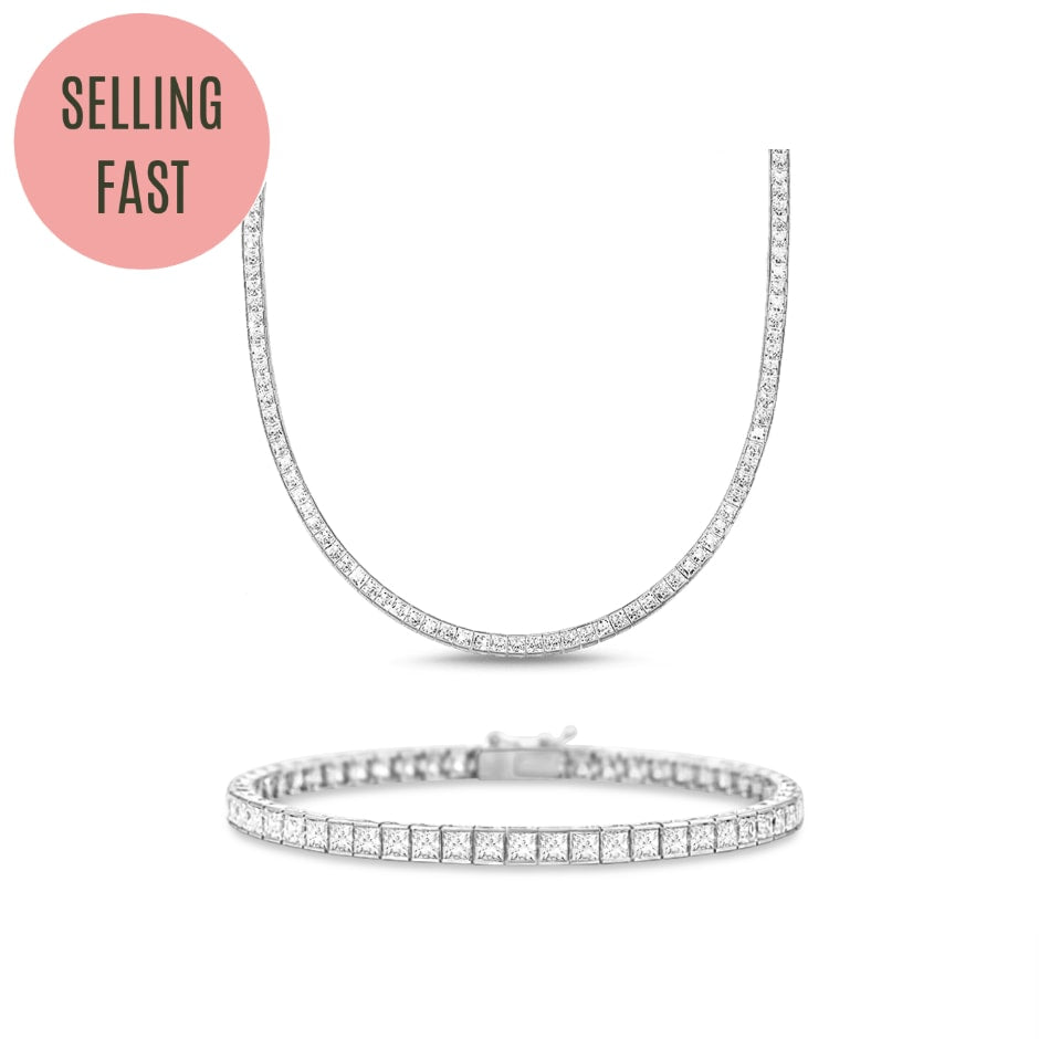 [PROMO BUNDLE] Hariette Princess Necklace Bracelet Diamond Set