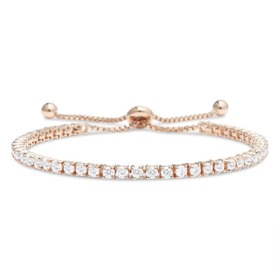 Winslet Adjustable Diamond Bracelet in 18k White Gold Vermeil
