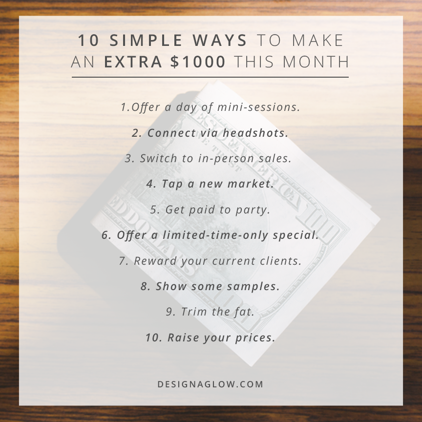 10 Simple Ways to Make an Extra $1000 This Month