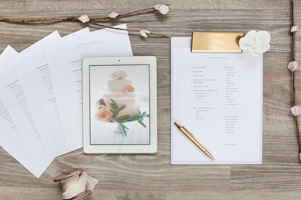 Free Wedding Day Checklist for Photographers