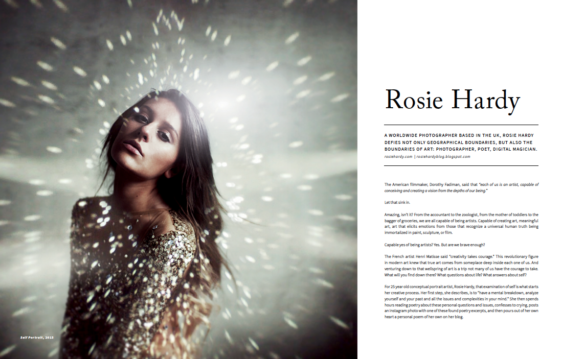 Peek Inside: Rosie Hardy for AGLOW Magazine