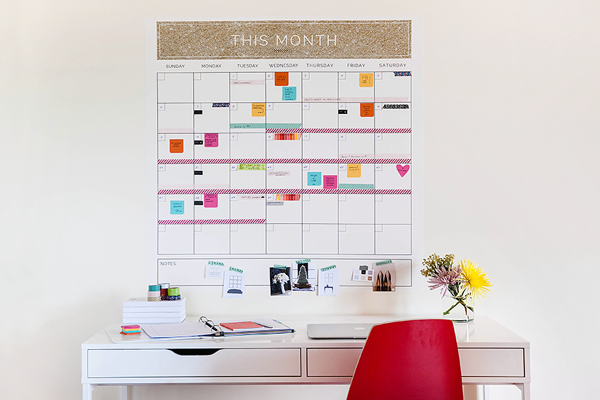 the big picture wall calendar template is here!