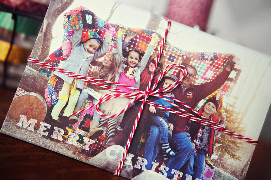 fun, collage style holiday card template