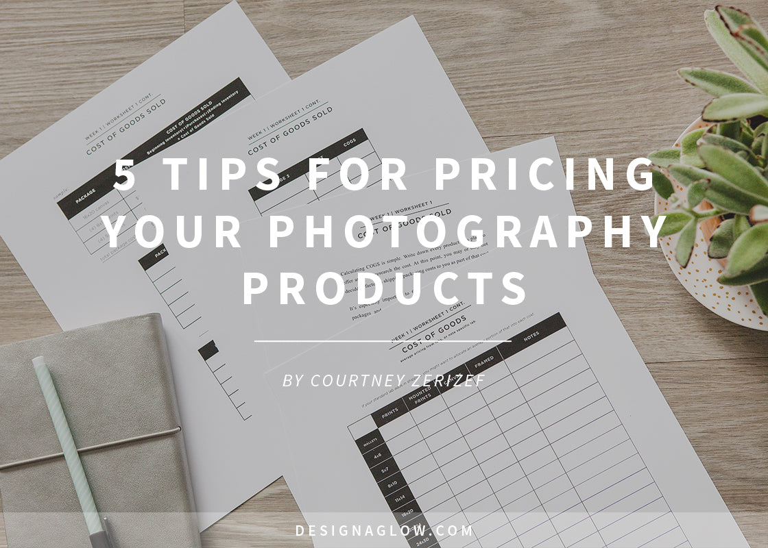 5 tips for pricing your photography products