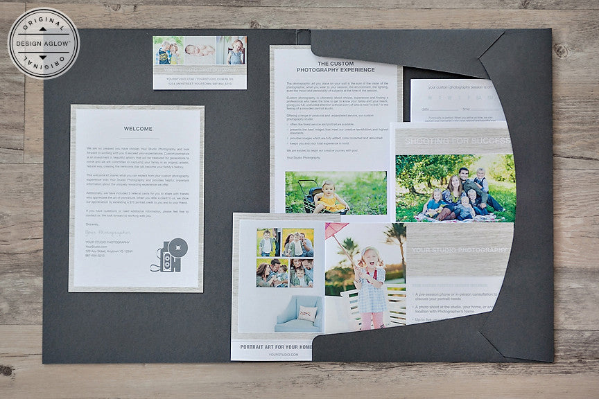 introducing the redesigned classic portrait and wedding welcome packets