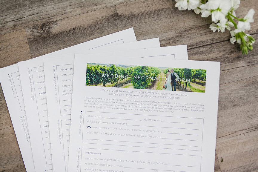 product spotlight: essential wedding information form