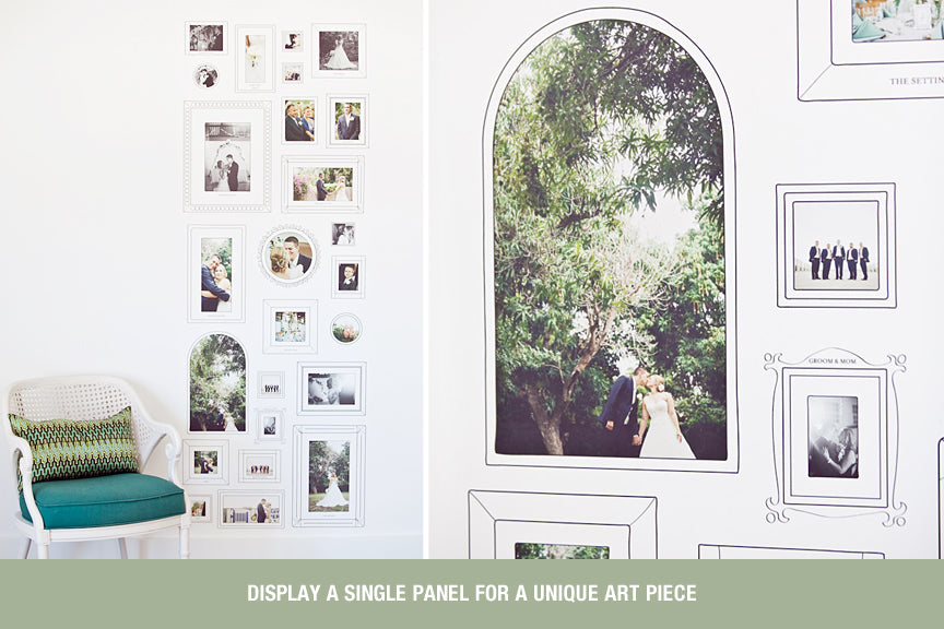 Hand-Drawn Frames Wall Cling Photoshop and Indesign Template For Photographers 2
