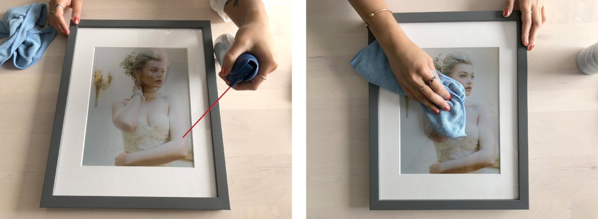 how to take care of your acrylic frame