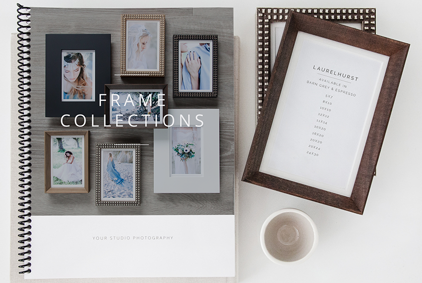 illustrate your studios frame offerings with professional stock photographs of the actual products and carefully crafted verbiage