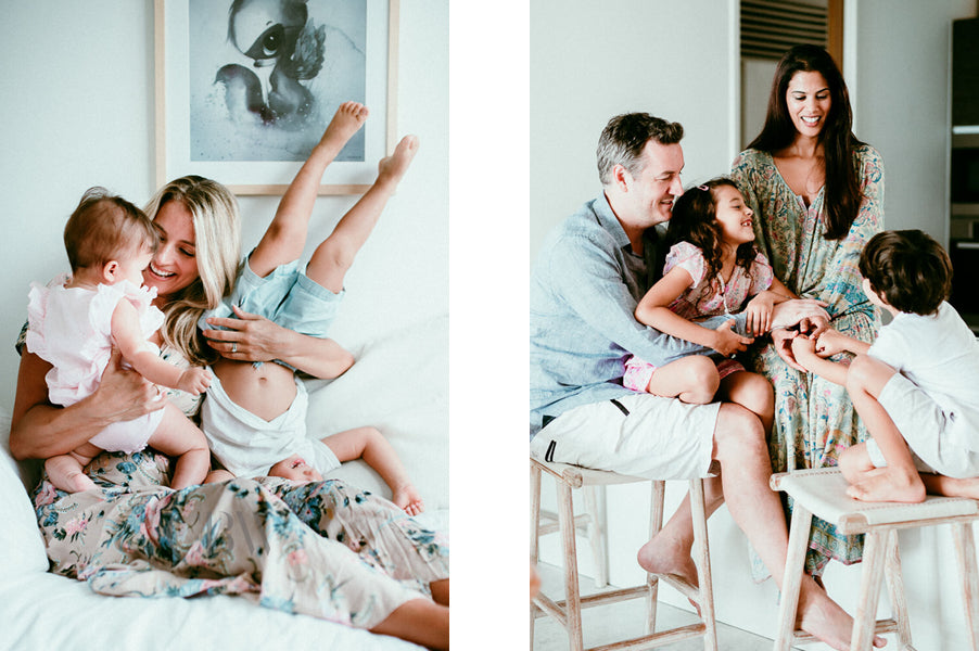 Heart of Home In Home Session Family with Kids
