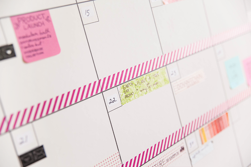 The Big Picture Wall Calendar Template Is Here Design Aglow - Post it note calendar template