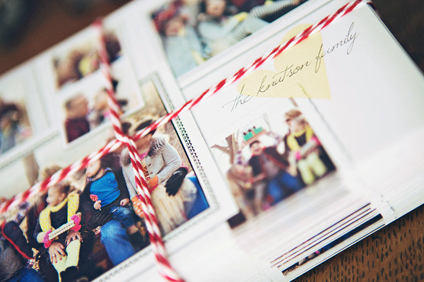holiday photo collage card