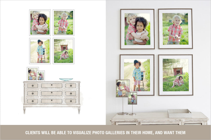 wall gallery display templates