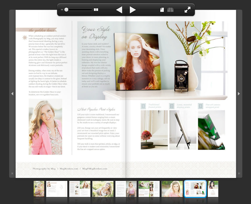 free senior templates for photoshop - create a senior magazine with two of our top products
