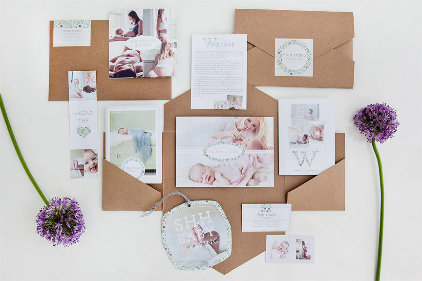 The newborn welcome packet is here design aglow