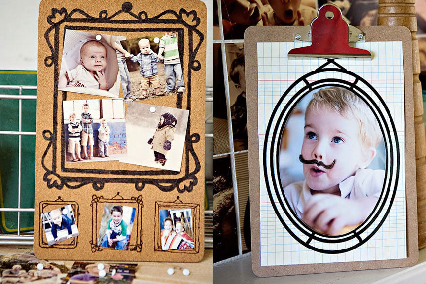 inspired diy project: collage display - Design Aglow
