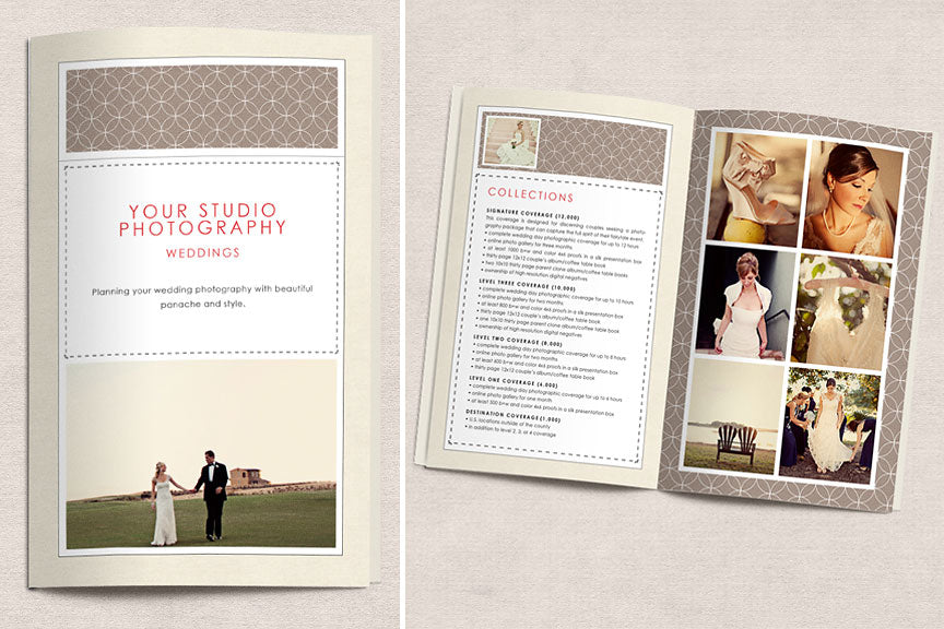 simple traditional 8 page brochure design aglow