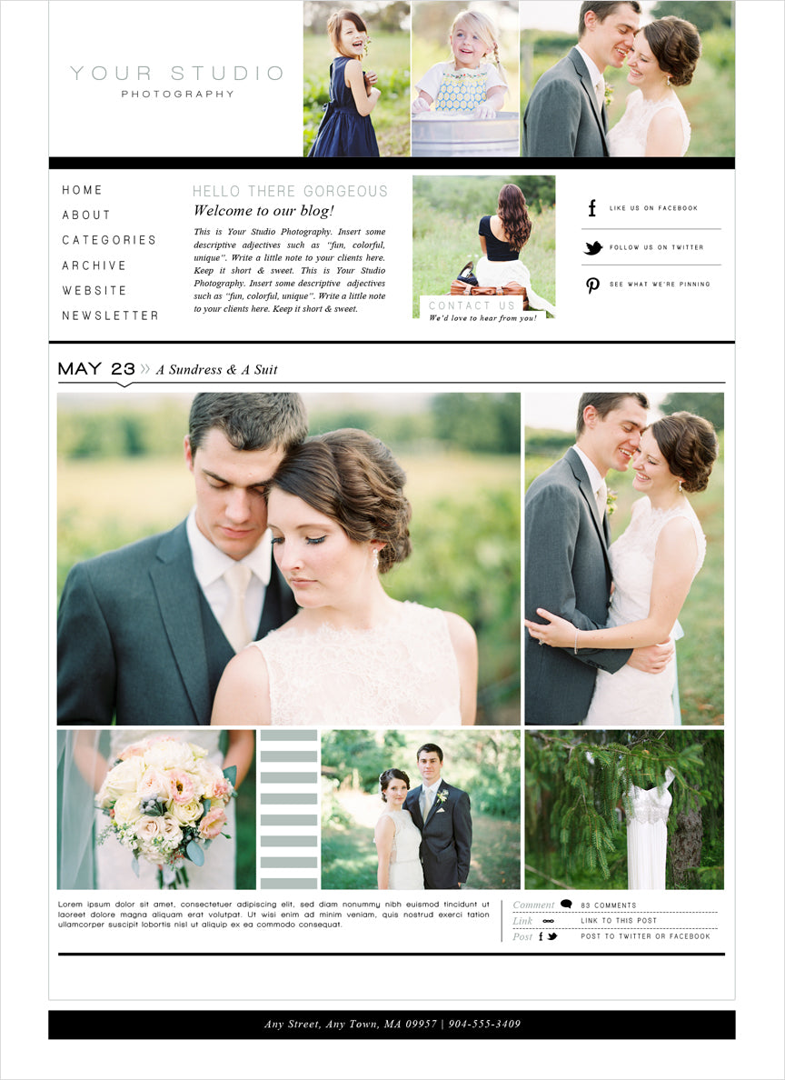 prophoto blogsite template
