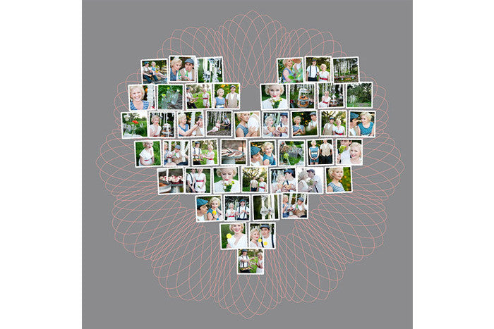 Heart Collage Template For Photoshop And Indesign - Design Aglow