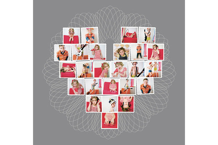 Heart Collage Template For Photoshop And Indesign  Design Aglow