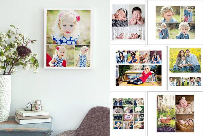 Collage Storyboard Photoshop Templates for Photographers - Wedding ...