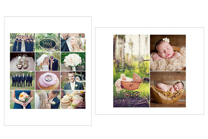 Collage Storyboard Photoshop Templates For Photographers Wedding