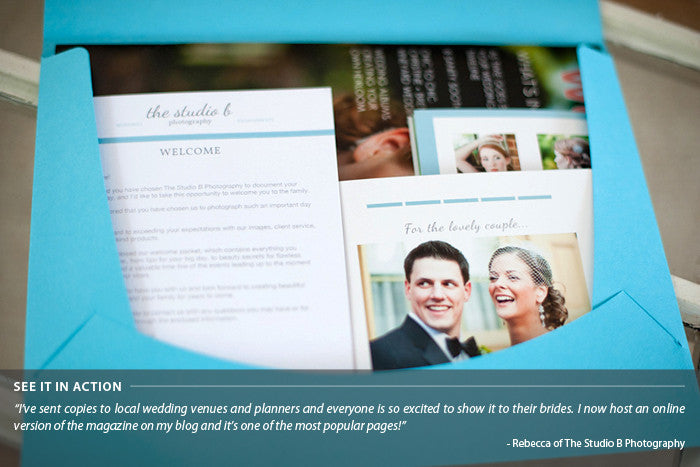 Wedding Photography Welcome Packet: Marketing And Selling Photoshop And InDesign Template Sets