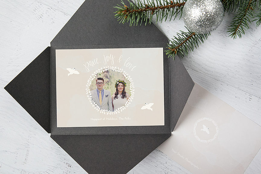 Custom Lettered Holiday Card Templates