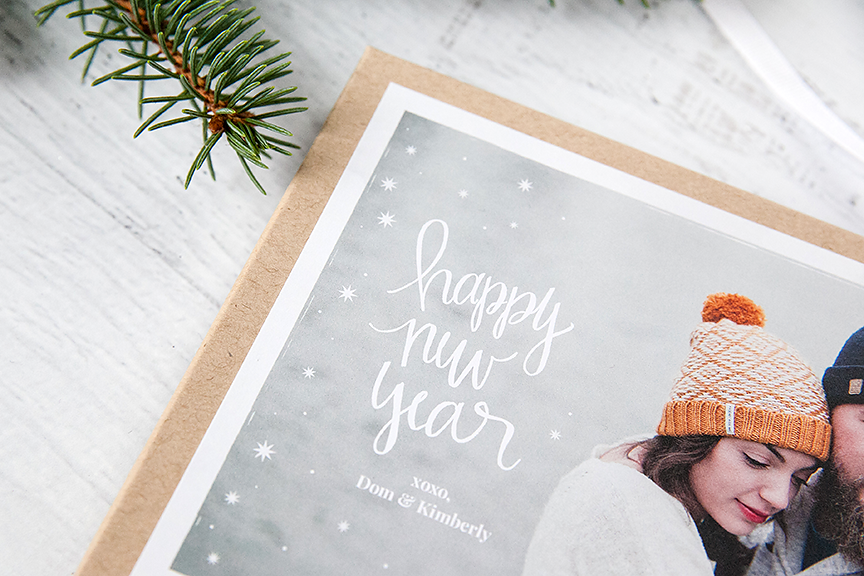 Hand Lettered Happy New Year Template