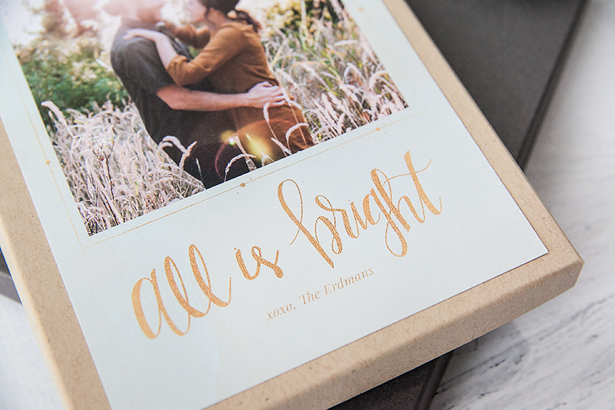 """All is Bright"" Holiday Card Template Design"