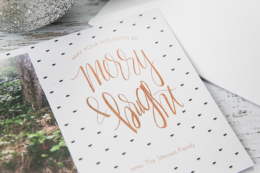 Hand Lettered Holiday Photo Cards for Photographers