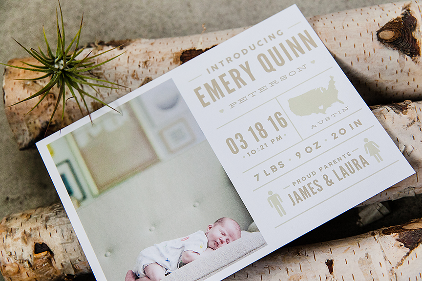 Baby Announcement Templates for Photographers Design Aglow – Baby Announcements Templates