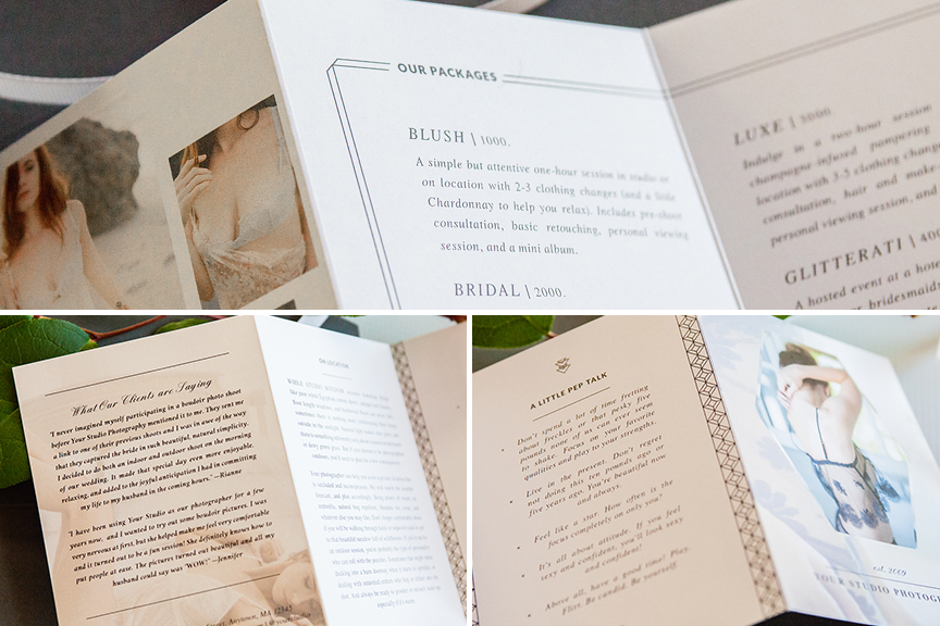Boudoir Welcome Packet Modern Romance Edition
