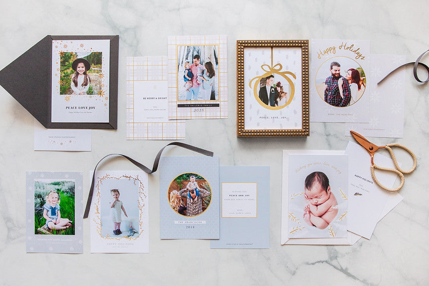 Photo cards calendars tagged holiday cards design aglow holiday cards gilded greetings collection m4hsunfo