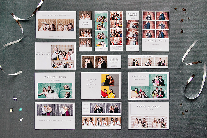 Photo Booth Templates Modern Minimalist Collection