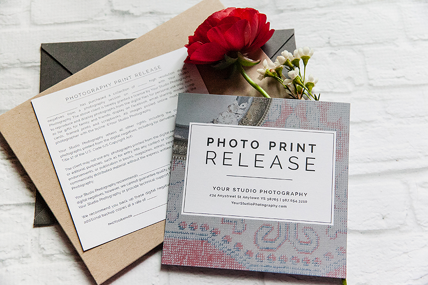 Professional Photography Print Release Template Design Aglow – Print Release Form